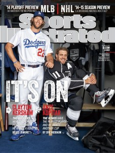 Anze Kopitar and Clayton Kershaw Sports Illustrated The Puck Off