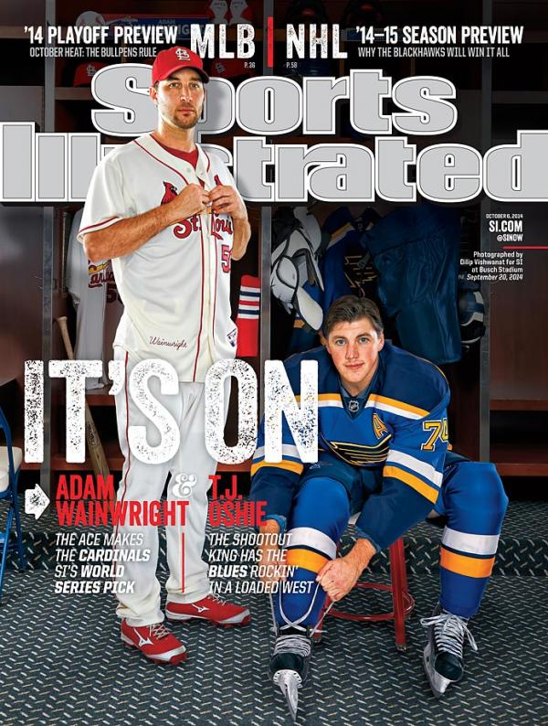 TJ Oshie Adam Wainwright Sports Illustrated The Puck Off